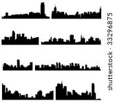 asian cities series asian four...   Shutterstock .eps vector #33296875