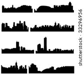 asian cities series asian four... | Shutterstock .eps vector #33296956