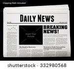 daily newspaper isolated with... | Shutterstock . vector #332980568
