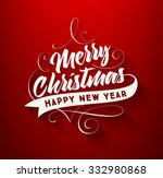 christmas greeting card design. ... | Shutterstock .eps vector #332980868