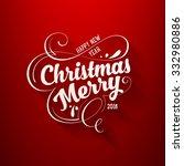 christmas greeting card design. ...   Shutterstock .eps vector #332980886
