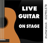 guitar live on stage music dark ... | Shutterstock .eps vector #332981378