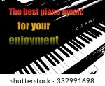 music banner with piano... | Shutterstock .eps vector #332991698