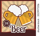 beer concept with glasses... | Shutterstock .eps vector #332997356