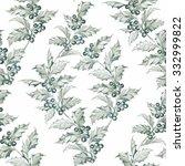 mistletoe seamless pattern for... | Shutterstock . vector #332999822