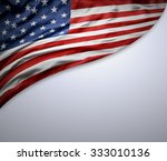 american flag on grey background | Shutterstock . vector #333010136