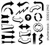retro arrow designs   set of... | Shutterstock .eps vector #333011942