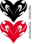 two hearts | Shutterstock .eps vector #33301306