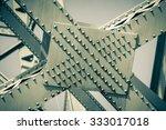modern bridge frame closeup.... | Shutterstock . vector #333017018