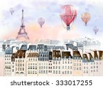 Paris With Hot Air Balloon
