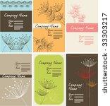 dandelion name card set | Shutterstock .eps vector #33303217