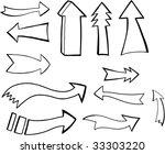 arrows vector illustration set   Shutterstock .eps vector #33303220