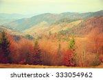 autumn in carpathian mountains. ...