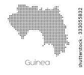 a map of the country of guinea | Shutterstock . vector #333055832