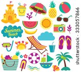 summer day elements clip art set | Shutterstock .eps vector #333057866