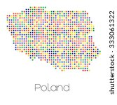 a map of the country of poland   Shutterstock . vector #333061322