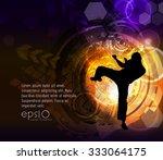 illustration of karate    Shutterstock .eps vector #333064175