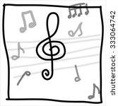 music note background | Shutterstock .eps vector #333064742