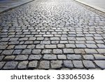 Cobbled Stone Road Shown At A...