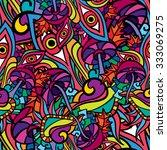 60s hippie psychedelic art...   Shutterstock .eps vector #333069275