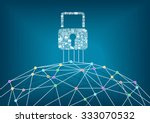 global it security protection... | Shutterstock .eps vector #333070532