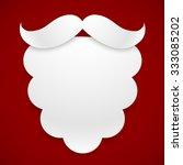 white paper vector santa's... | Shutterstock .eps vector #333085202