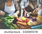 cooking preparing food... | Shutterstock . vector #333085478