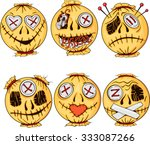 Set Of Colorful Halloween Styl...