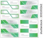 banner green color design pack  | Shutterstock .eps vector #333103262