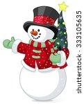 illustration of cute snowman