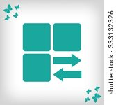 infographic styled vector  cube ... | Shutterstock .eps vector #333132326