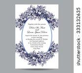 romantic invitation. wedding ... | Shutterstock .eps vector #333132635
