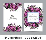 romantic invitation. wedding ... | Shutterstock .eps vector #333132695
