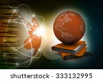 3d illustration of earth and... | Shutterstock . vector #333132995