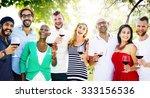 friends friendship party... | Shutterstock . vector #333156536