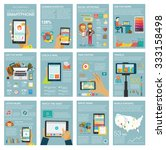 big set infographic with charts ... | Shutterstock .eps vector #333158498