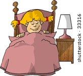 clipart illustration of a girl... | Shutterstock . vector #33316