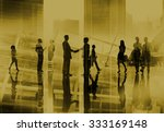 business people handshake... | Shutterstock . vector #333169148