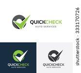 quick check automotive logo... | Shutterstock .eps vector #333170726