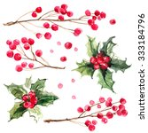 christmas ornaments from the...   Shutterstock . vector #333184796