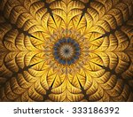 Golden Flower. Abstract Glowing ...