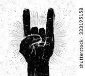 "grunge ""rock on"" gesture... | Shutterstock .eps vector #333195158"