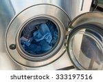 laundry machine at work | Shutterstock . vector #333197516