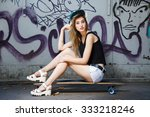 beautiful young girl  with... | Shutterstock . vector #333218246