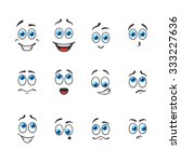 different funny emotions with... | Shutterstock .eps vector #333227636