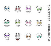 funny smiles with colored eyes | Shutterstock .eps vector #333227642