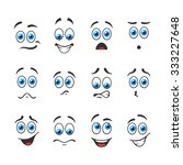 different funny emotions with... | Shutterstock .eps vector #333227648