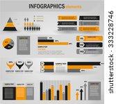 big set of infographics... | Shutterstock .eps vector #333228746