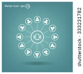 global communication concept... | Shutterstock .eps vector #333231782