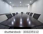 closeup of an empty conference... | Shutterstock . vector #333235112